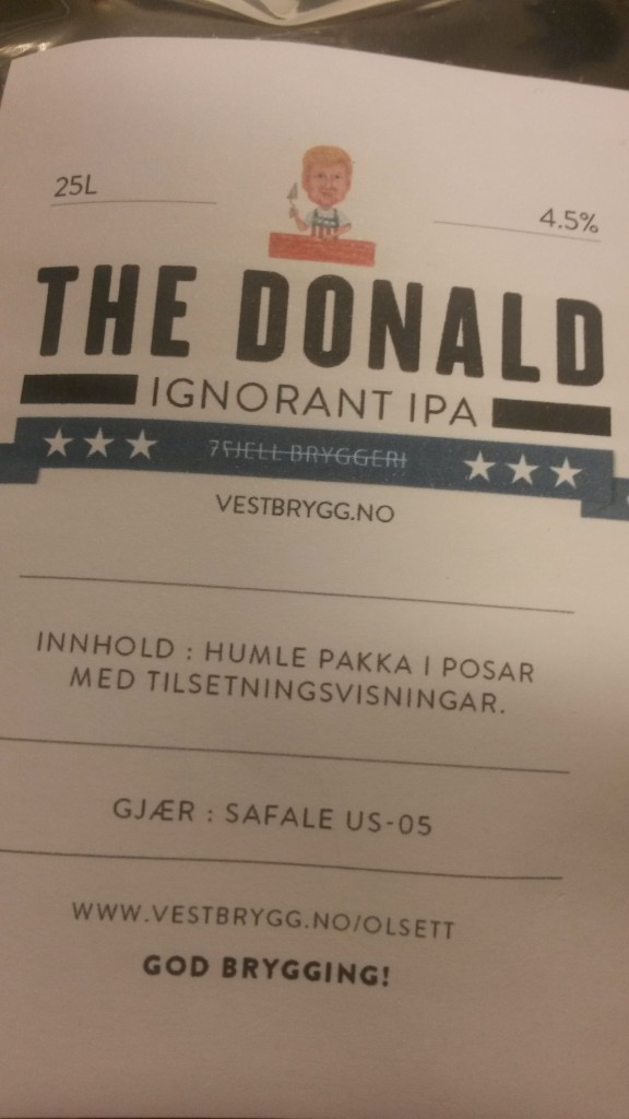 "7Fjell ""The Donald - Ignorant IPA"""